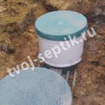 Устанвка септика танк универсал-3 в загородном доме