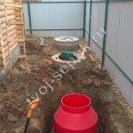 монтаж канализации для бани Фото установки септика дочиста для бани в Ивантеевке