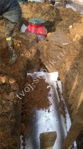 Установка канализации для бани