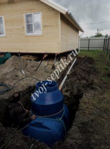 Фото установки септика дочиста 1,8 в Ногинском районе