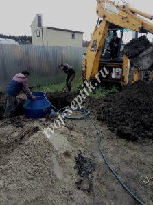 Фото установки септика дочиста в Ногинском районе