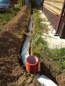 Дренаж воды с участка в Мытищинском районе