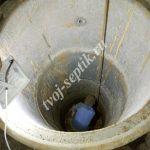 Фото установки бетонных колец для септика в Королёве