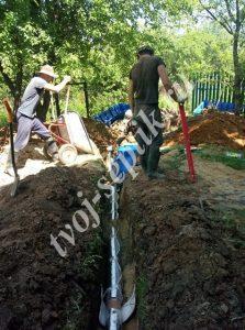 Установка септика дочиста в чеховском районе