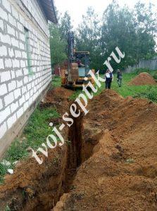 Фото проведения водопровода в щелково