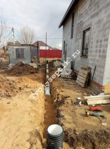 Отвод дренажной воды с участка в сергиевом посаде1
