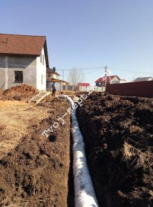 Отвод дренажной воды с участка в сергиевом посаде-2
