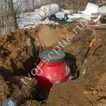 Фото монтажа септика дочиста 1,8 в Люберецком районе