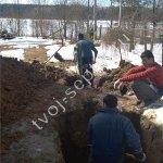 Фото монтажа септика дочиста в Люберецком районе