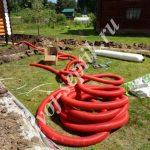 Ливневая труба загородного дома