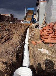 Дренаж участка без щебня в сергиевом посаде-1