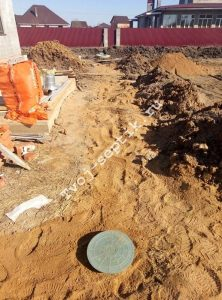 Отвод дренажной воды с участка в сергиевом посаде-5