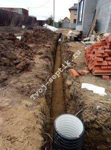 дренажные работы участка в сергиевом посаде-2