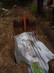 Фото установки септика дочиста 1,2 под ключ село Ямкино-1